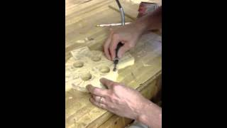 Carving A Celtic Cross