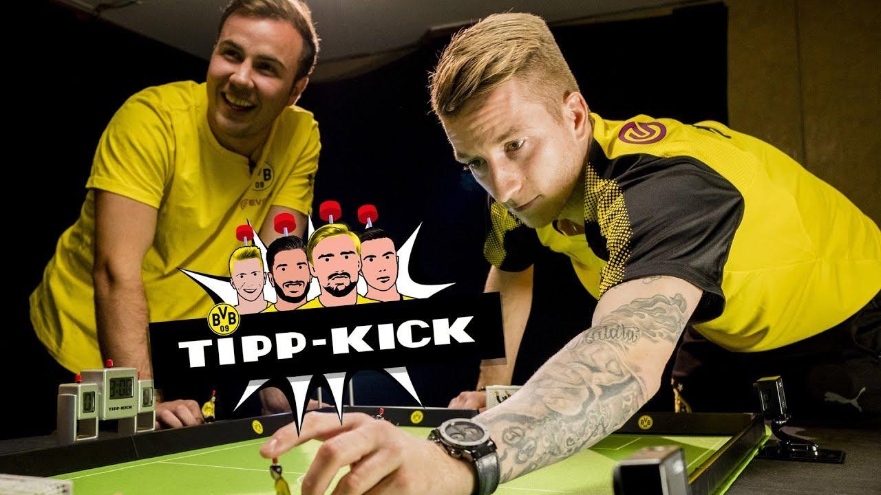 Mario Götze vs. Marco Reus |Tipp-Kick-Challenge beim BVB |