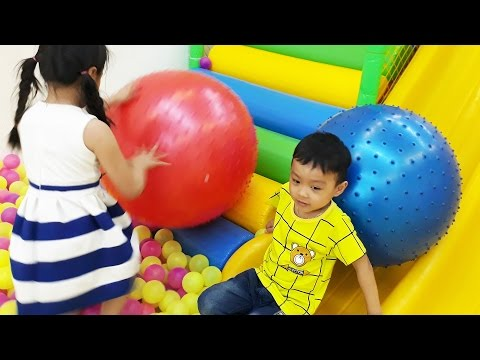 Thumbnail: Learn Colors big Ball and Cars for kids at Indoor Playground | Learn Colors for Kids Video