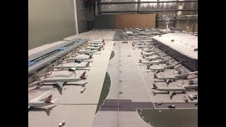 LHR London Heathrow 1:400 model airport 5:00am-8:00am operations update