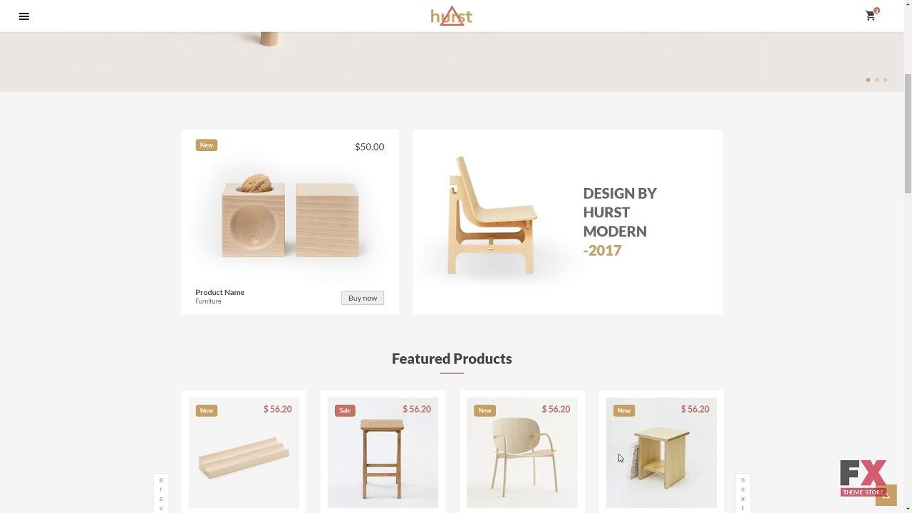 Hurst   Furniture ECommerce Website Template TMT   Free Template Bal