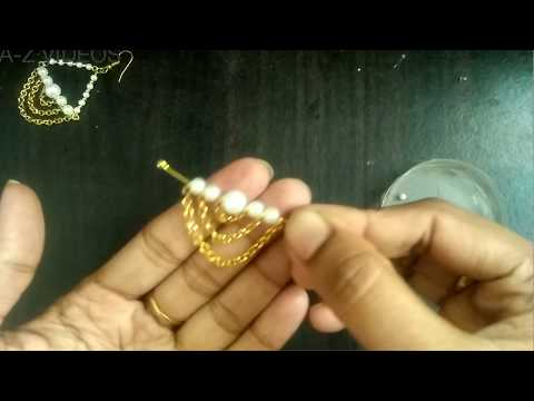 DIY || Jewellery making tutorial || Earring making at home