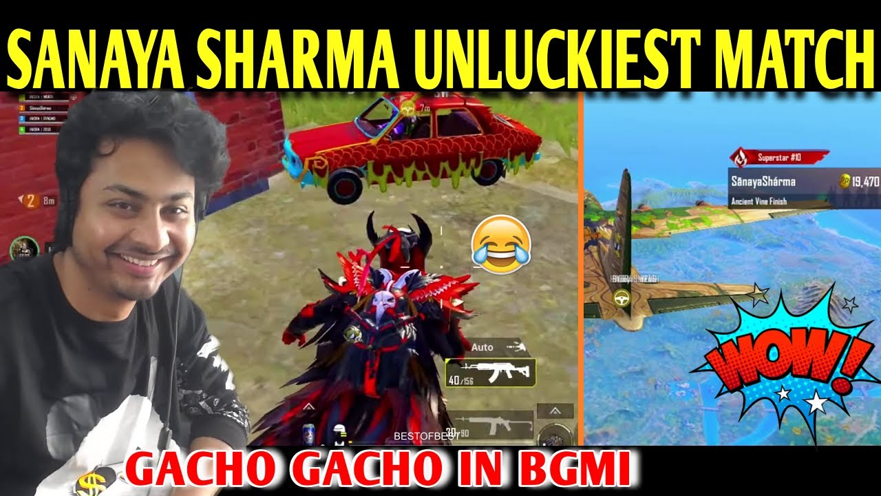 DYNAMO - SANAYA SHARMA UNLUCKIEST MATCH | BATTLEGROUNDS MOBILE INDIA | BEST OF BEST