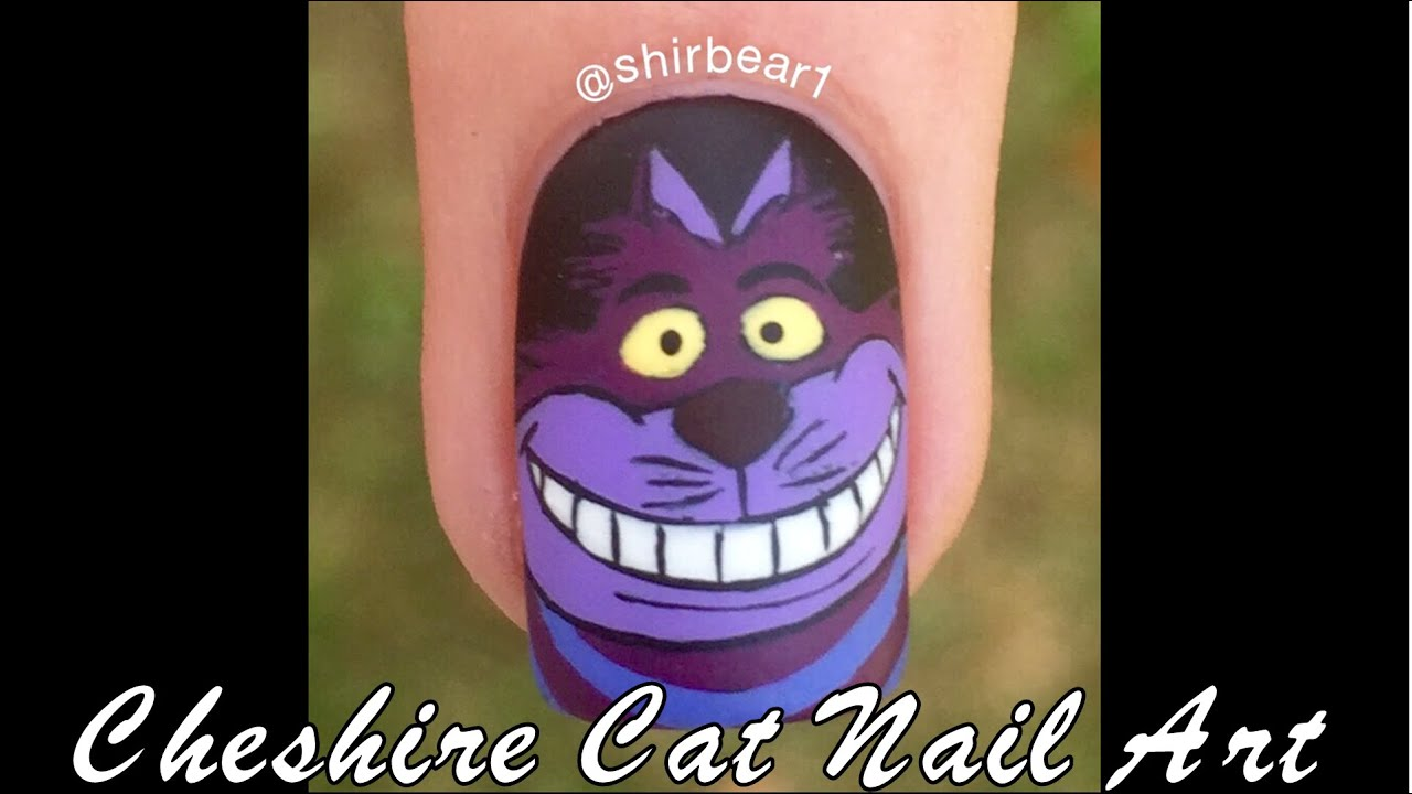 Alice In Wonderland Nail Art Tutorial Cheshire Cat Youtube