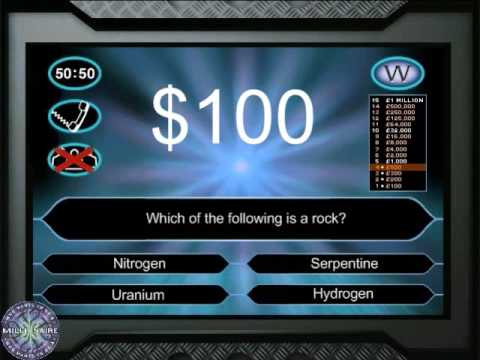 Who Wants to Be a Millionaire Science Edition Game 6 - YouTube