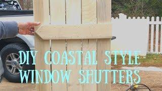 DIY Coastal Style Window Shutters