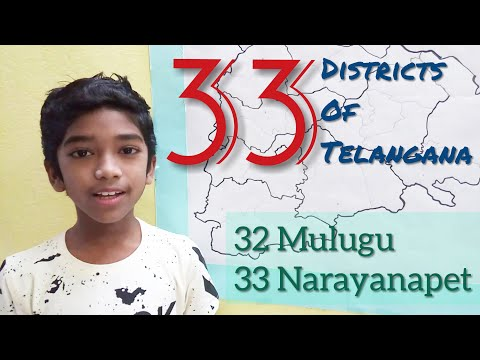 31 New Districts of Telangana State Very Easy way to Learn
