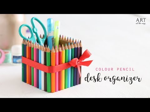 DIY: Teacher's Day Gift Idea|Desk Organizer| Teachers Day Craft