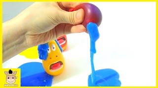 DIY Learn Colors How To Make With Rainbow Colors Slime Fun Lava | MariAndKids Toys