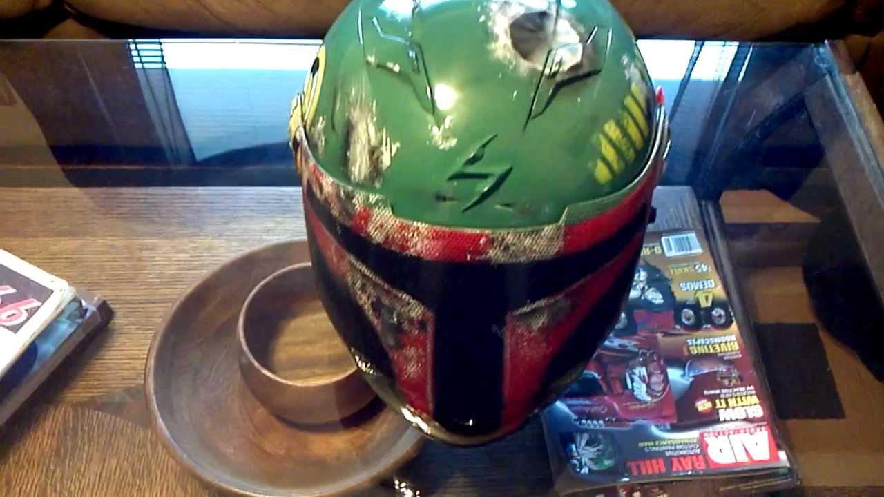 Custom Painted Boba Fett Star Wars Motorcycle Helmet Youtube