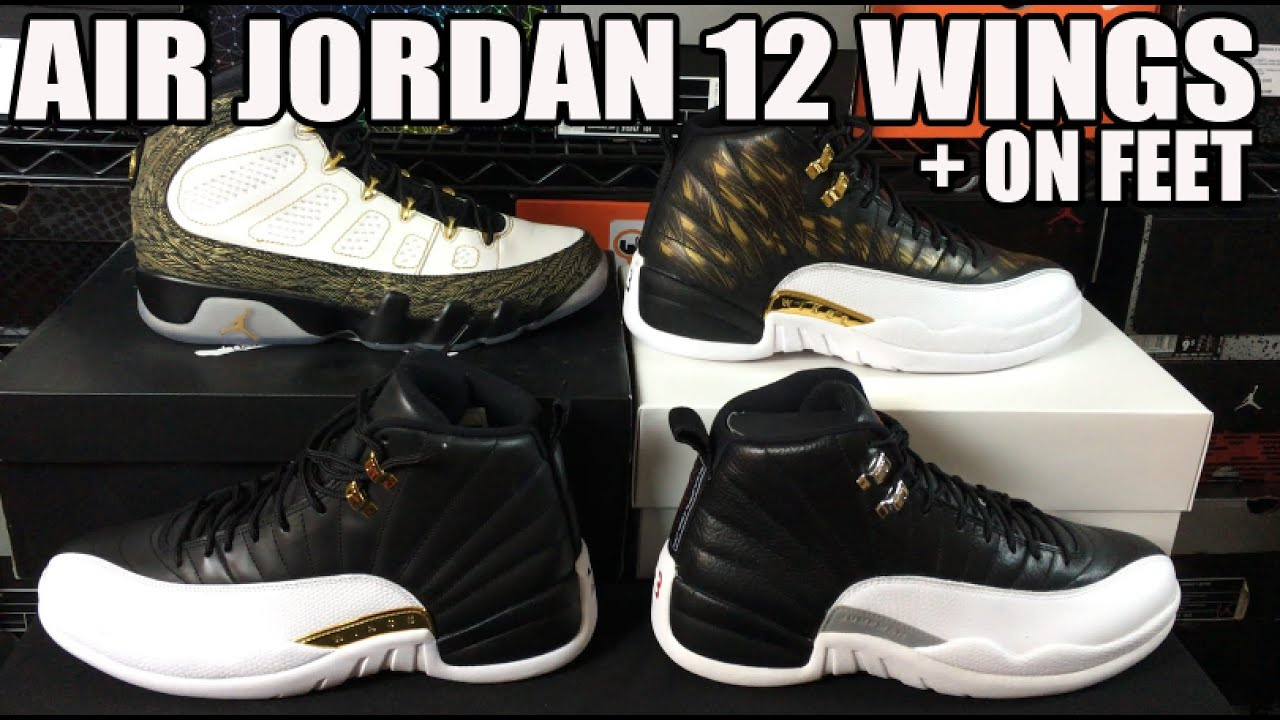 5e307db94427 ... get air jordan 12 wings exposed w playoff comparison review on feet  youtube aadf3 f6dfa