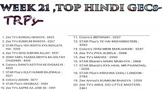 Top 20 | Hindi tv shows | Trp Ratings | Week 21