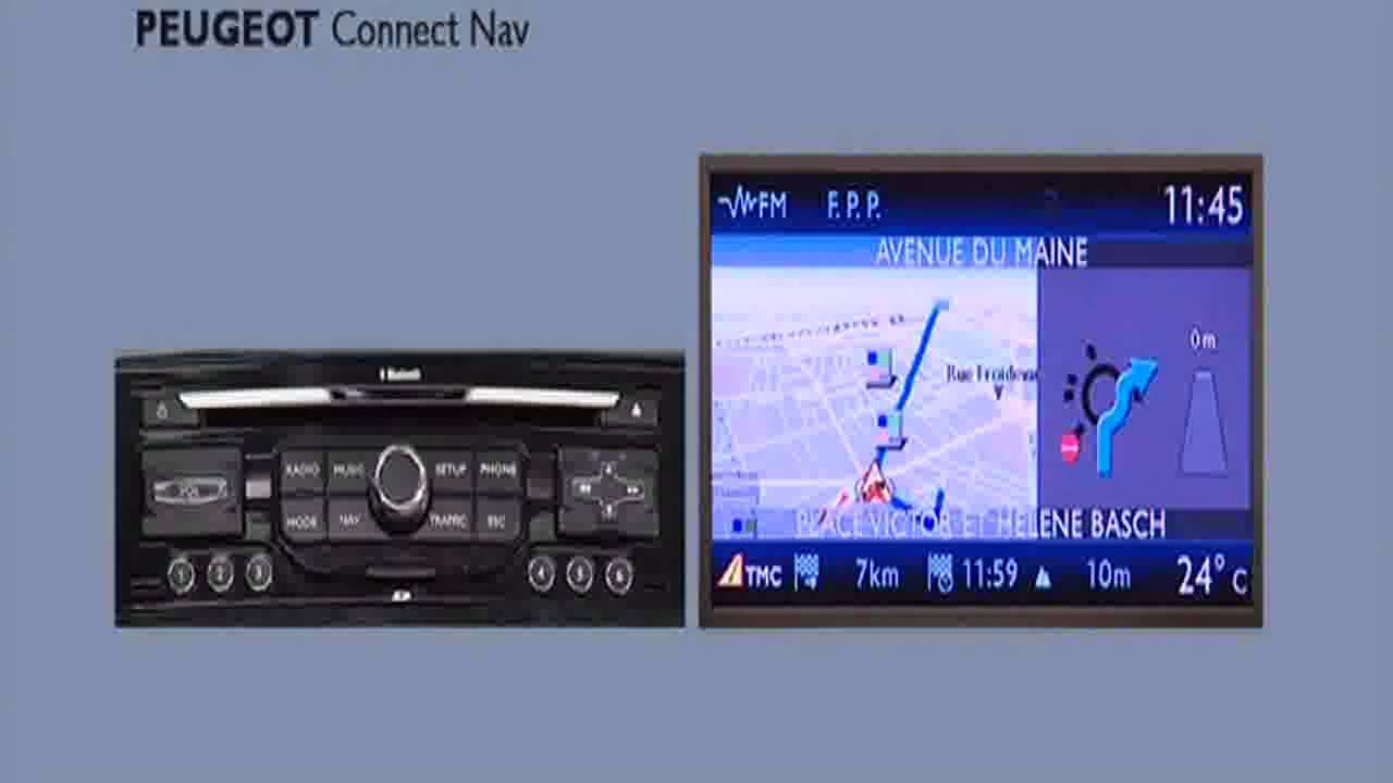 Wonderlijk Instellen Peugeot connect nav navigatie systeem - YouTube YV-22