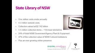 History Week 2013: Geoff Hinchcliffe, State Library of NSW