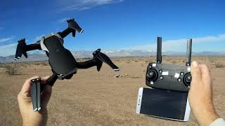 Eachine E511S Folding GPS Camera Drone Flight Test Review