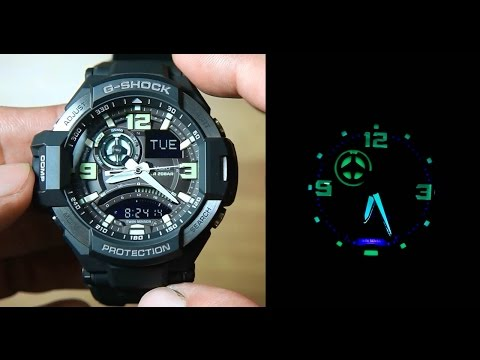 Casio Gravity Master GA-1000-1B *Unboxing & Light Demo