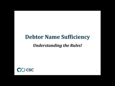 Recorded Webinar - Accuracy Is Everything: UCC Financing Statement Debtor Name Essentials