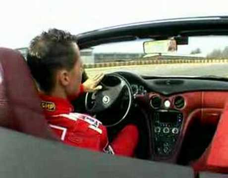 Maserati.spyder.Schumacher.test.drive