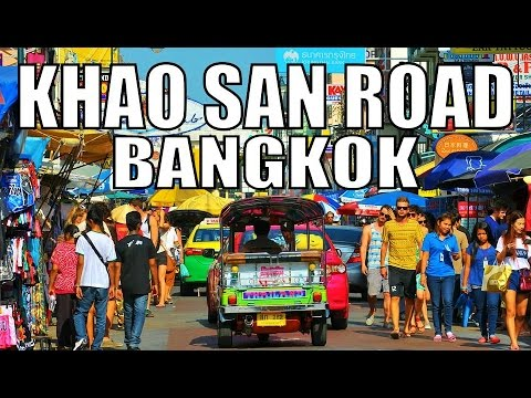 KHAOSAN ROAD BANGKOK IN AMAZING THAILAND. [full HD]