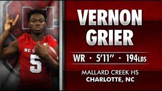 #Pack15 - Vernon Grier - WR - Mallard Creek HS (NC)