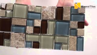 Puzzle Mordern Stone Glass Mosaic Tile - 120salurb1