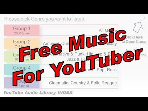 YouTube Audio Library INDEX -Download Free Music for YouTuber-