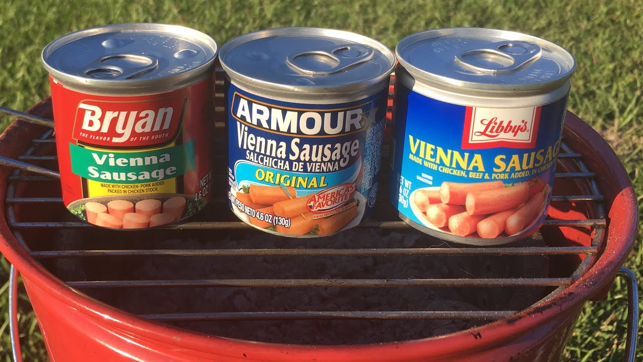 Grilling Vienna Sausage: Armour, Bryan, Libby's on the Coleman Party Pail