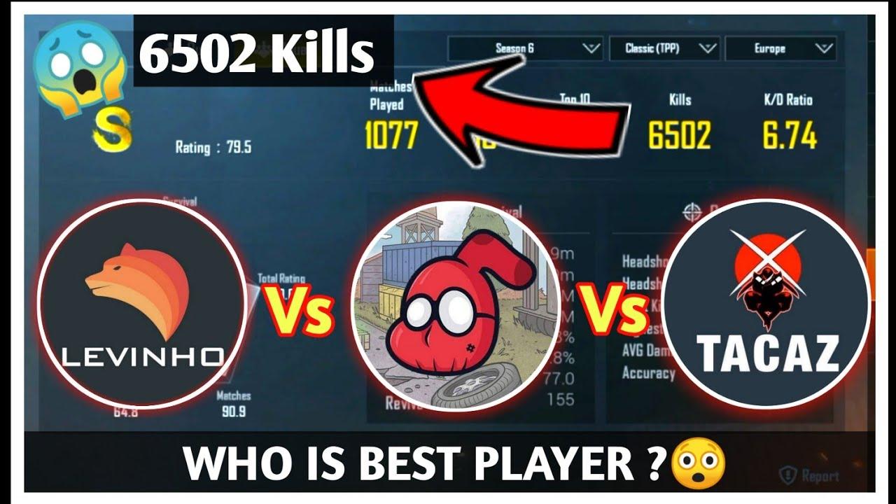 Levinho | Sevou | Tacaz | ID / KD / Stats Revealed Who is Best ?