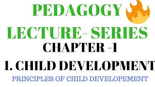 chapter 1 child development and pedagogy L2 principles of child development