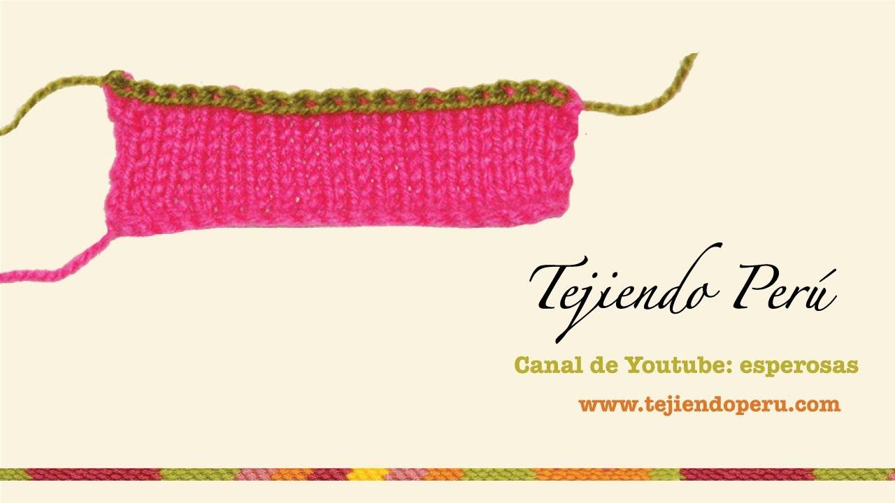 Curso básico de tejido en dos agujas, tricot o palillos (Parte 1 ...