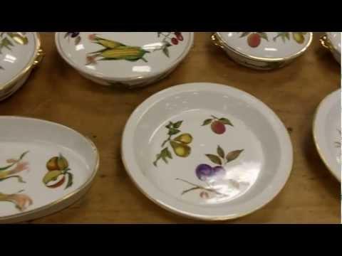 Vintage Royal Worcester Evesham Cooking Set Dishes