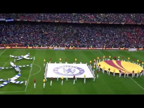 Europa league final, amsterdam arena, chelsea - benfica himne + players