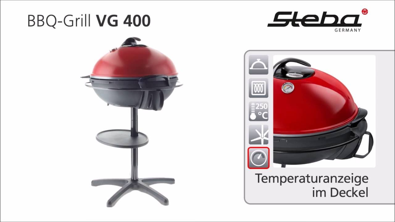 steba bbq grill vg 400 - youtube