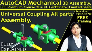 Auto-CAD Mechanical 3D In Hindi | [ Complete ] AutoCAD Mechanical Modeling | 3D Parts | Assembly