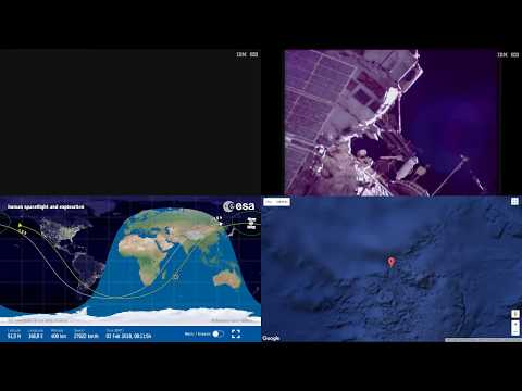 Sunset Over Asia - ISS Space Station Earth View LIVE NASA/ESA Cameras And Map - 56