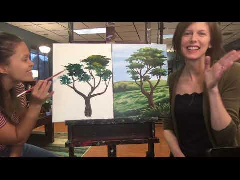 Painting Tree Foliage
