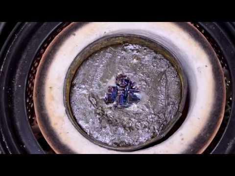 酸化ビスマスの還元実験 How to recycle  byproduct of bismuth crystals