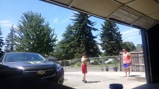 Hot potato  game with water balloons
