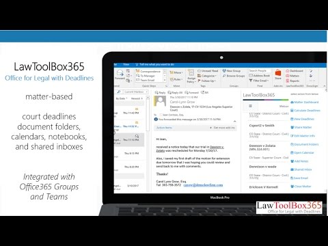 LawToolBox365 and Office 365 - Better Together (2017 April)