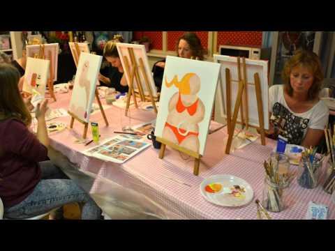 Workshop dikke dames schilderen kloddertje roze leiden for Dikke dames schilderen