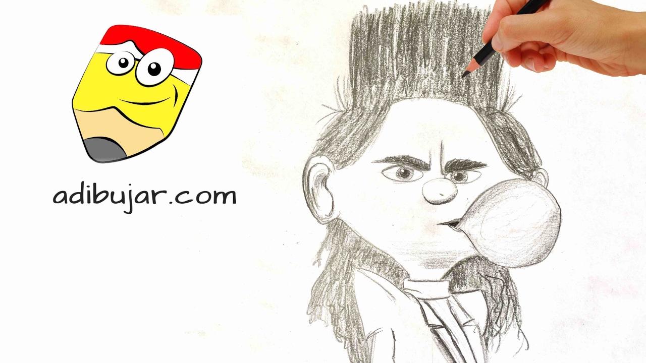 Cómo Dibujar Balthazar Bratt Mi Villano Favorito 3 Despicable Me