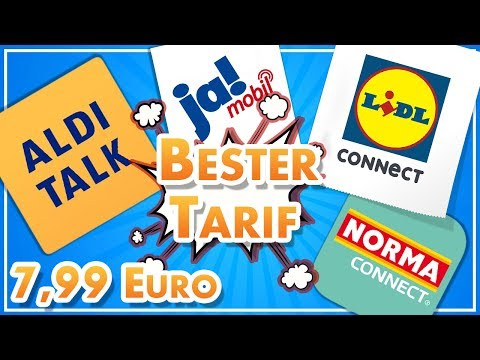 Der BESTE Discount-Tarif für 7,99 Euro! 📲 Aldi Talk, Lidl Connect etc.