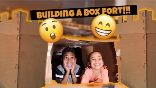 Kids Pretend Play Box Fort Challenge!