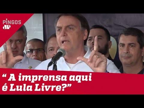 Bolsonaro rebate militância de jornalistas