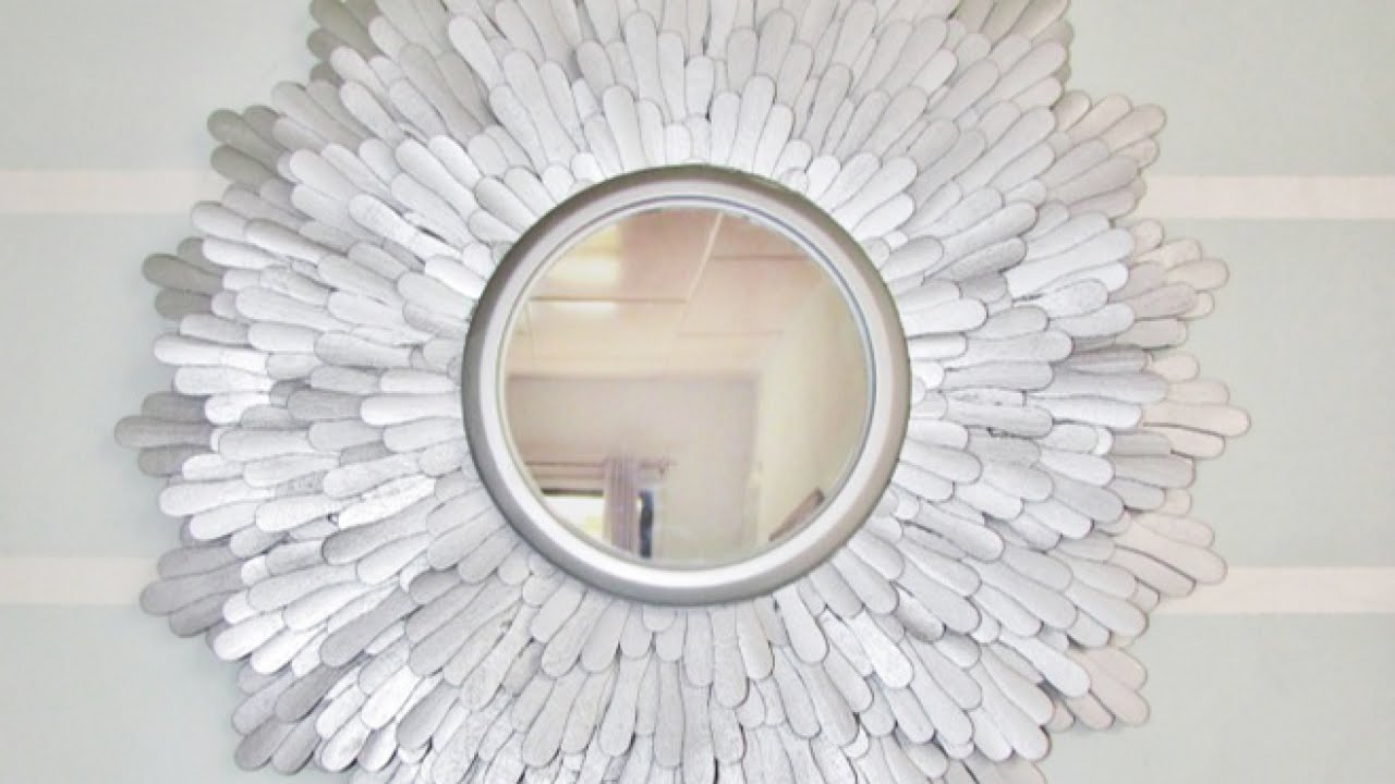 How to create a beautiful starburst mirror diy home tutorial how to create a beautiful starburst mirror diy home tutorial guidecentral youtube solutioingenieria
