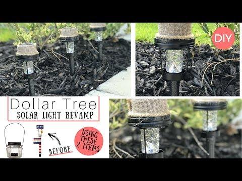 Solar Lights DIY | Dollar Tree DIY | Farmhouse Styled | Ashleigh Lauren