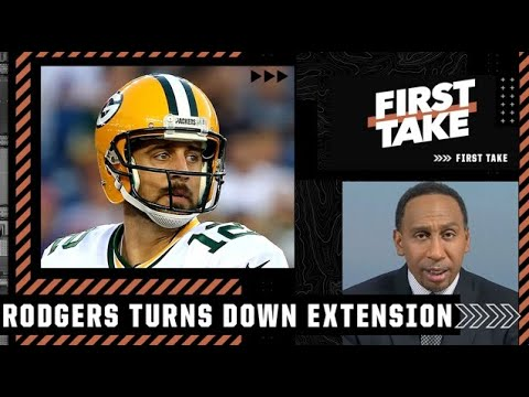 Download Stephen A. reacts to Aaron Rodgers turning down a 2-year extension with the Packers | First Take