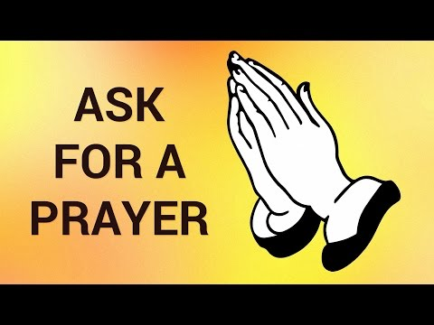 How to Ask for a Prayer Request Online - YouTube