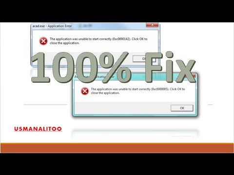 How to Fix Application Error 0xc0000142 and 0xc0000005 All Windows