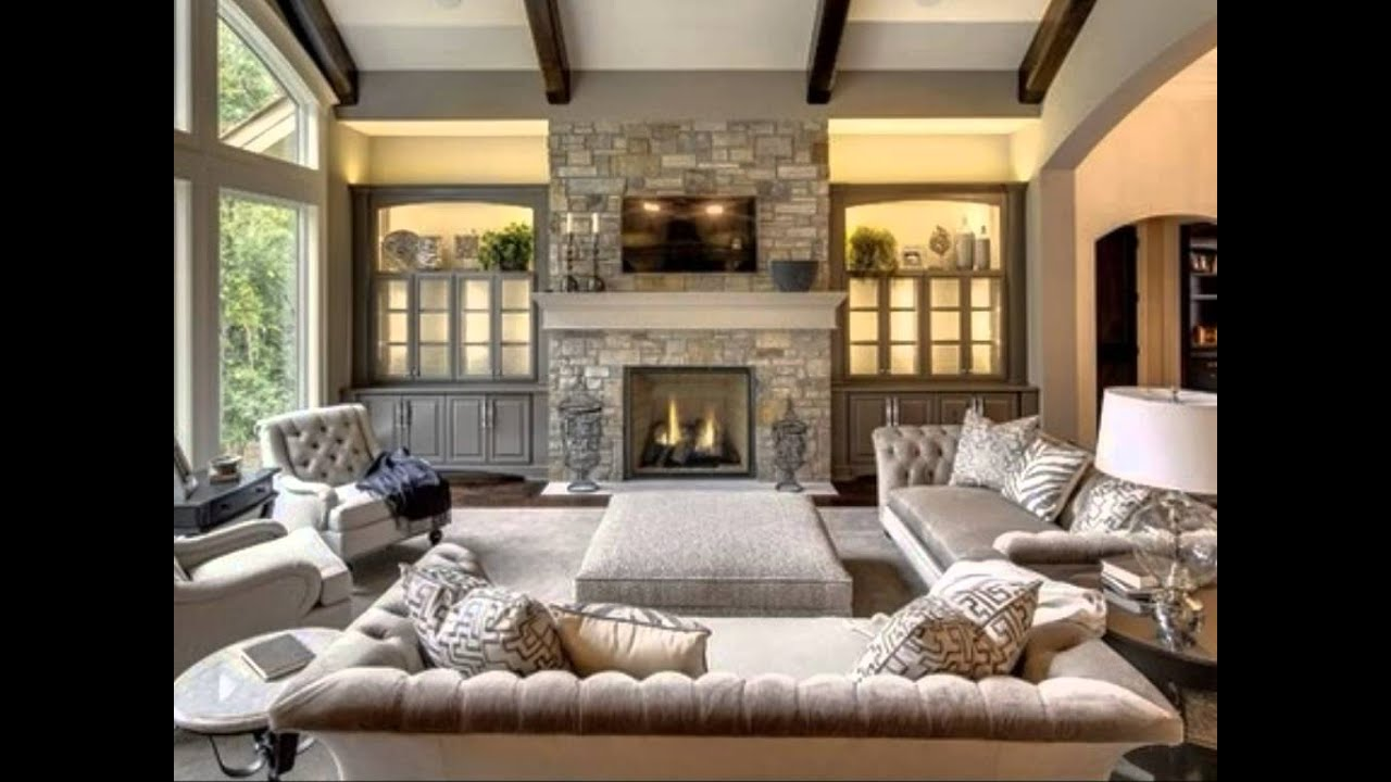 Beautiful and elegant living room design ideas best decorations ever youtube - Beautiful corner fireplace design ideas for your family time ...